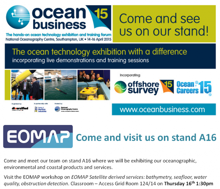 EOMAP at Ocean Business 2015