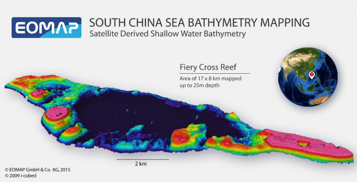 EOMAP provides bathymetry for South China Sea