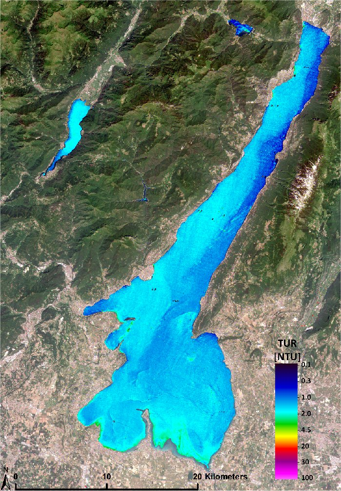 First Sentinel-2 water quality product