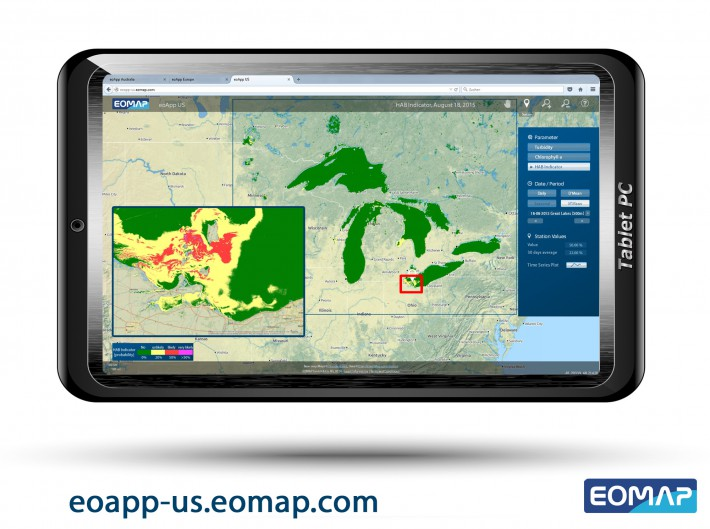 Daily satellite tracking of harmful algae blooms for the Great Lakes now online!