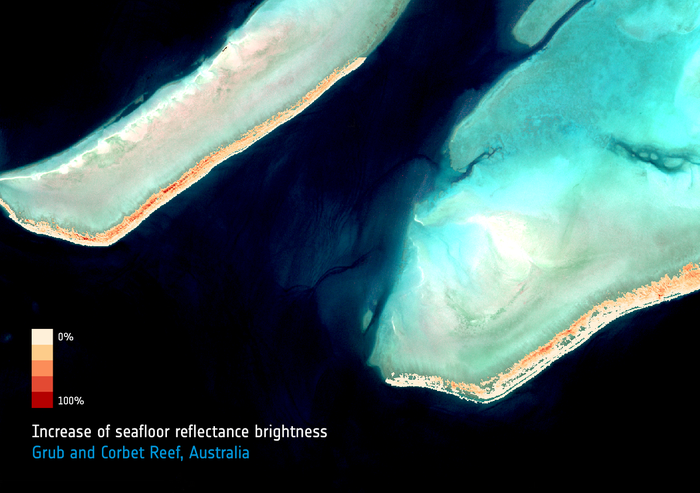 Monitoring coral bleaching of the Great Barrier Reef with Sentinel-2