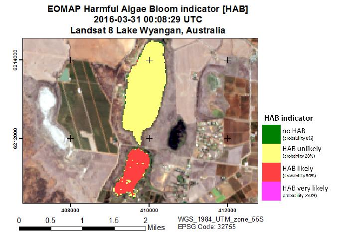 Lake Wyangan harmful algae bloom monitoring