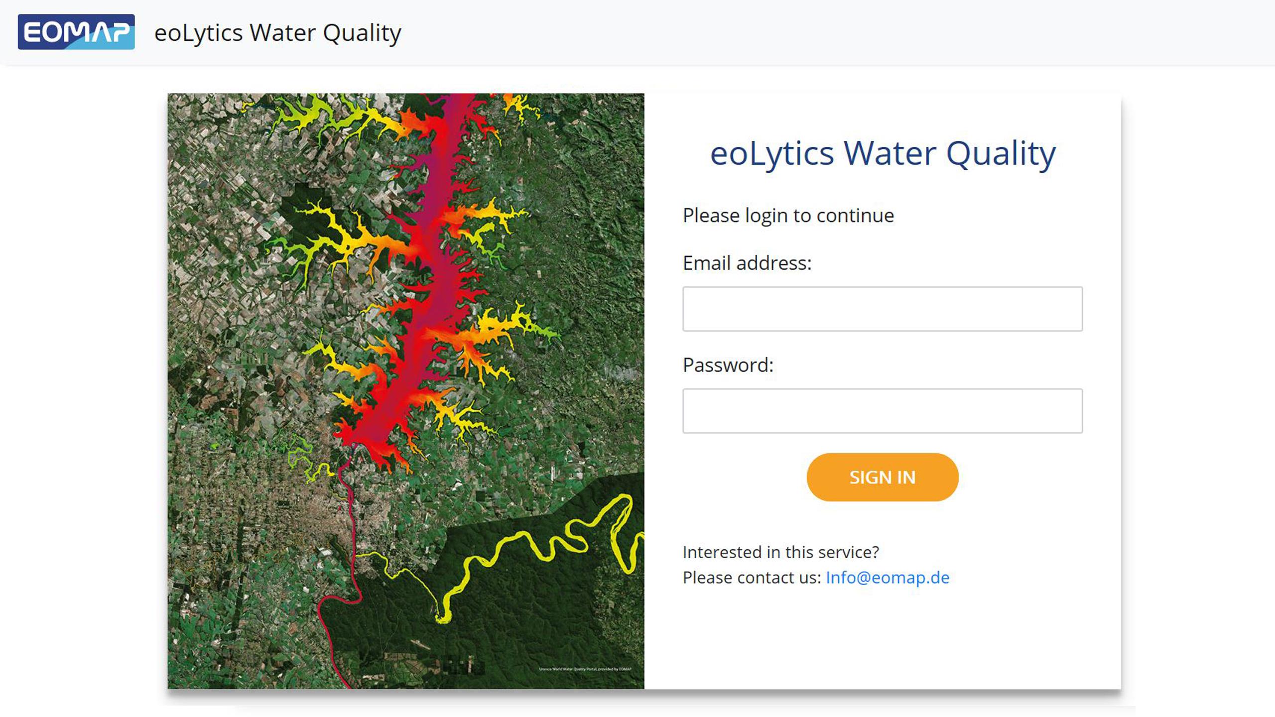 EOMAP eoLytics Water Quality